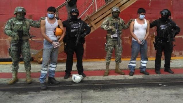 Ejército y Marina de México decomisan media tonelada de cocaína