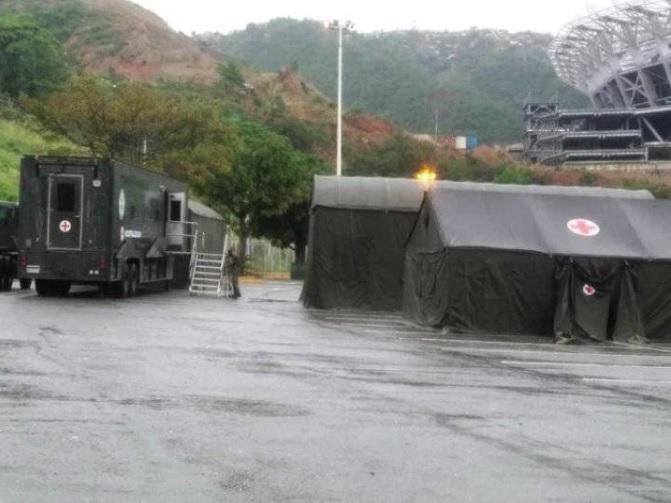 Se instala hospital militar de campaña en Caracas ante brote de coronavirus