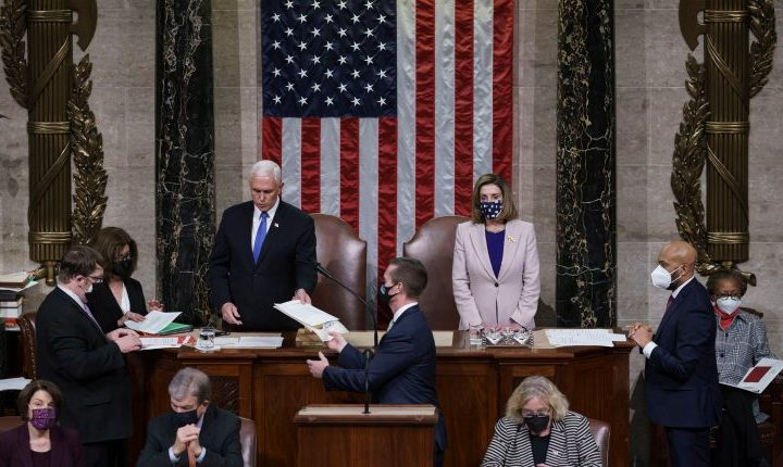 Joe Biden es certificado como 46.º presidente de Estados Unidos