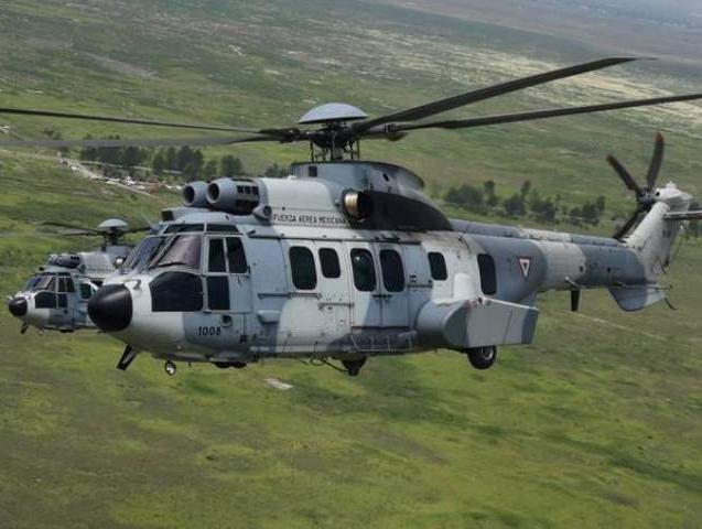 Los H225M Cougars de la Fuerza Aérea Mexicana alcanzan las 15 mil horas de vuelo